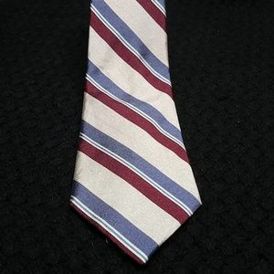 VTG Christian Dior cream/burgundy/blue men's tie